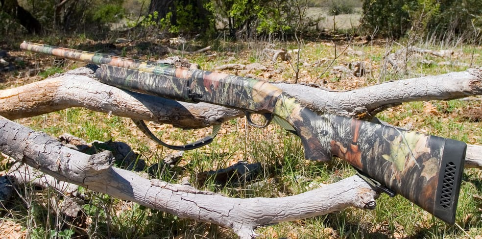 huting turkey- camouflage shotgun
